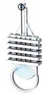 Односторонний шиберный (ножевой) затвор ORBINOX серии WS