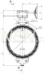 Затвор дисковый VP3408