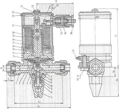 Клапан электромагнитный 13нж828р37